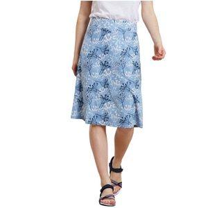 Coast to Coast Midi Skirt Floral Blue White Pink